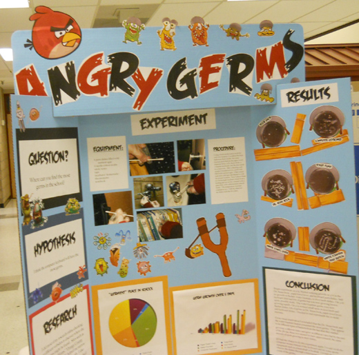 Germs science project display board http eegraphics com roadside